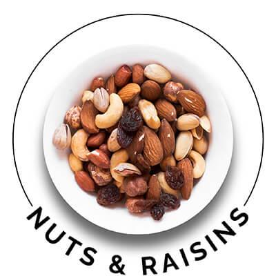Nuts & raisins